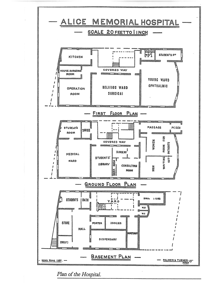 Floor plan of Alice Memorial Hospital